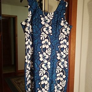 KY's made in Hawaii blue & white dress